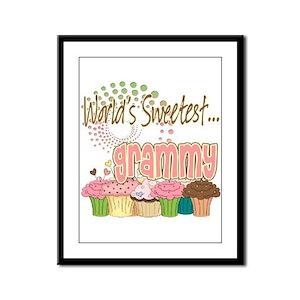 World's Sweetest Grammy Framed Panel Print