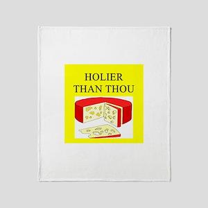 christian cheese joke Throw Blanket