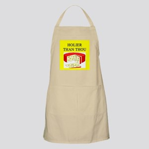 christian cheese joke Apron