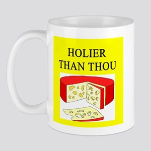 christian cheese joke Mug