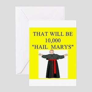 catholic joke Greeting Card