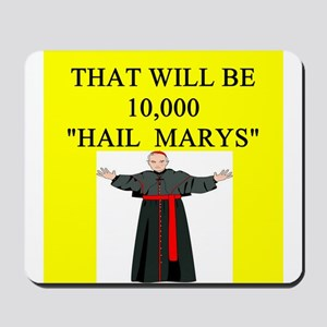 catholic joke Mousepad