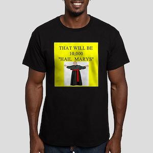 catholic joke Men's Fitted T-Shirt (dark)