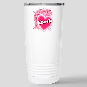 Abuela Heart Art Stainless Steel Travel Mug