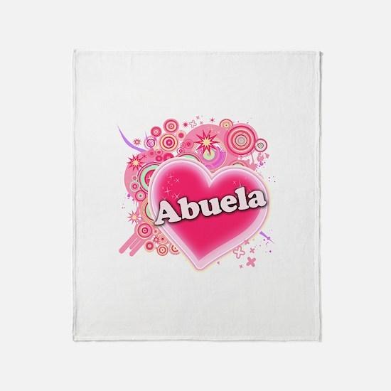 Abuela Heart Art Throw Blanket