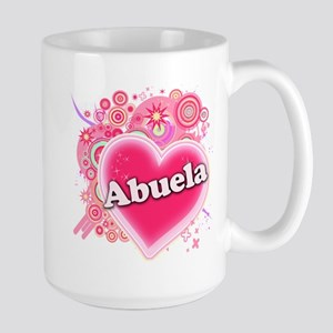 Abuela Heart Art Large Mug