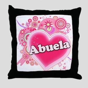 Abuela Heart Art Throw Pillow