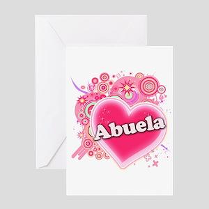 Abuela Heart Art Greeting Card