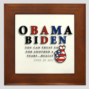 Obama Biden - Bad Men Framed Tile