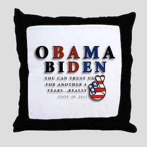 Obama Biden - Bad Men Throw Pillow