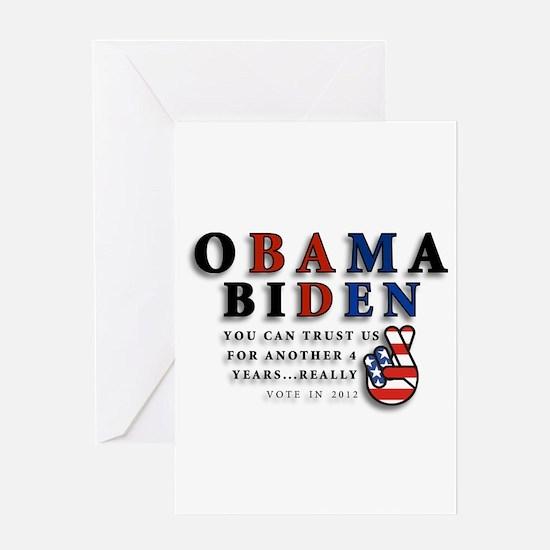 Obama Biden - Bad Men Greeting Card