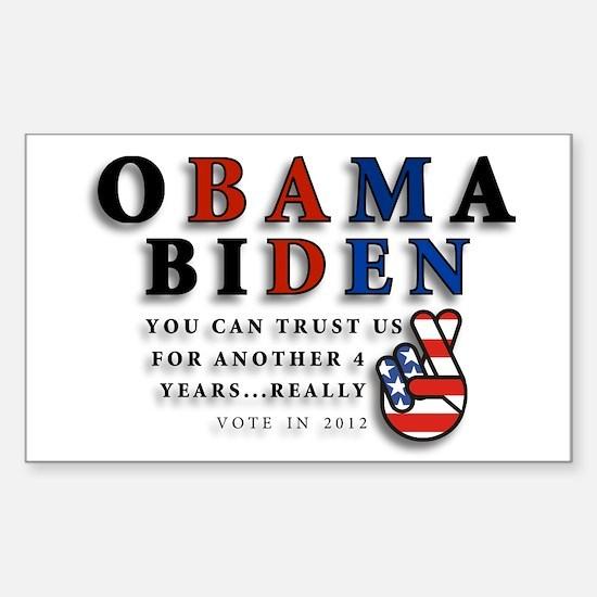 Obama Biden - Bad Men Sticker (Rectangle)