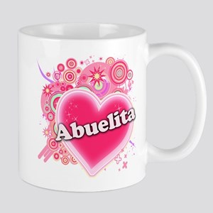 Abuelita Heart Art Mug
