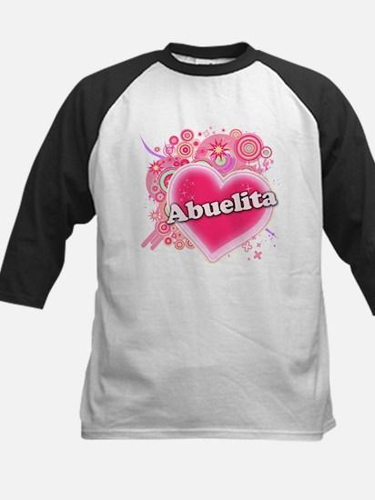 Abuelita Heart Art Kids Baseball Jersey