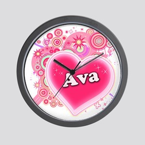 Ava Heart Art Wall Clock