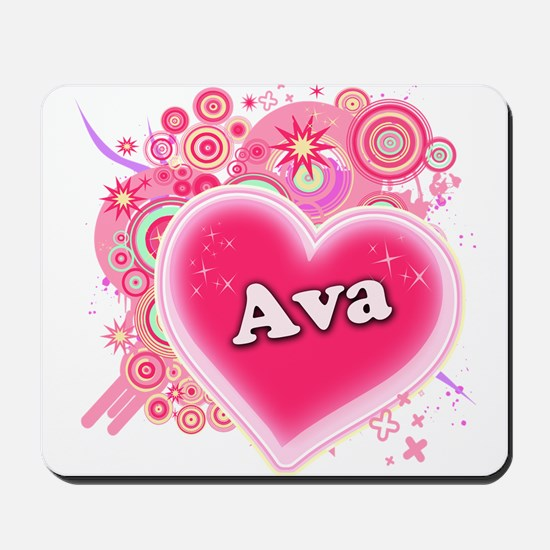 Ava Heart Art Mousepad