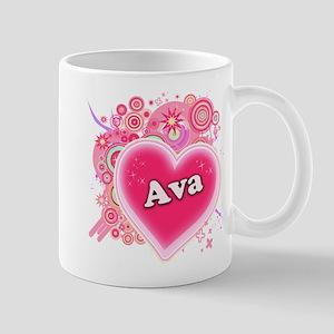 Ava Heart Art Mug