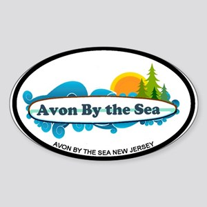 Avon NJ - Surf Design Sticker (Oval)