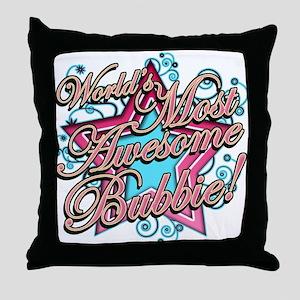 Worlds Best Bubbie Throw Pillow