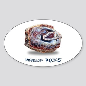 Minnesota Rocks! Sticker (Oval)