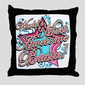 Worlds Best Busia Throw Pillow