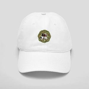 Basset Hound Xmas Wreath Cap