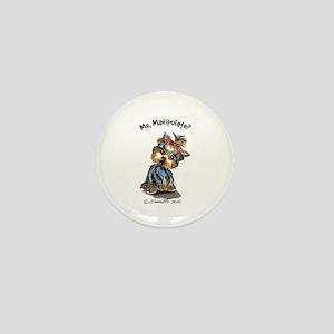 Yorkie Manipulate Mini Button