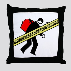 Police line Throw Pillow