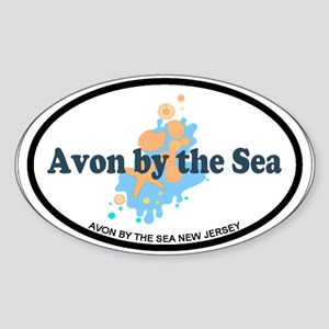 Avon NJ - Seashells Design Sticker (Oval)