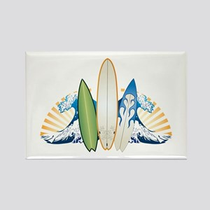 Surfboards Rectangle Magnet