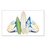 Surfboards Sticker (Rectangle 10 pk)