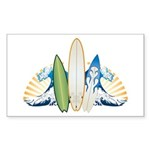 Surfboards Sticker (Rectangle)