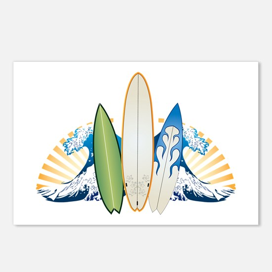 Surfboards Postcards (Package of 8)