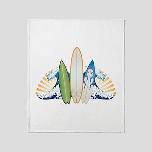 Surfboards Throw Blanket