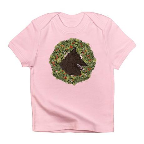 Belgian Tervuren Xmas Wreath Infant T-Shirt