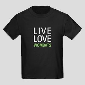 Live Love Wombats Kids Dark T-Shirt