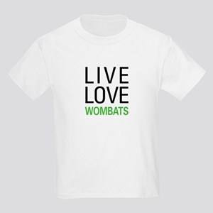 Live Love Wombats Kids Light T-Shirt