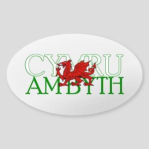 Cymru Am Byth Sticker (Oval)