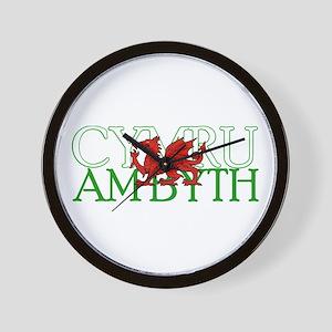 Cymru Am Byth Wall Clock