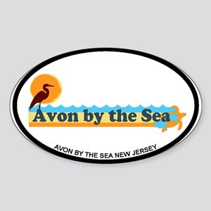 Avon NJ - Beach Design Sticker (Oval)