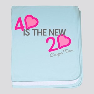 Heart 40 is the New 20 baby blanket