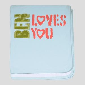 Ben Loves You baby blanket