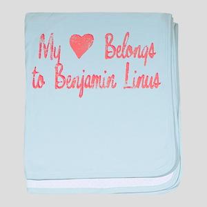 Heart Belongs Ben Linus baby blanket