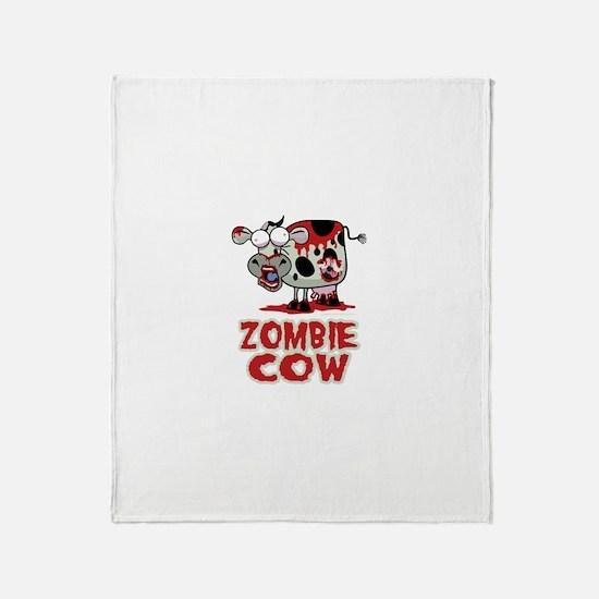 Zombie Cow Throw Blanket