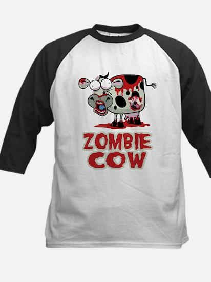 Zombie Cow Kids Baseball Jersey