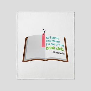 Lost Book Club Throw Blanket