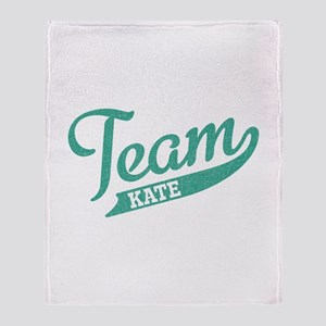 Team Kate Throw Blanket