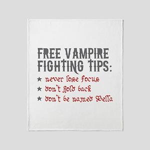 Vampire Fighting Tips Throw Blanket