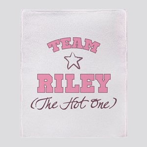 Hot Team Riley Throw Blanket