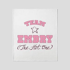 Hot Team Embry Throw Blanket